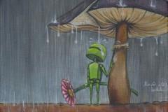 Beanie in the rain